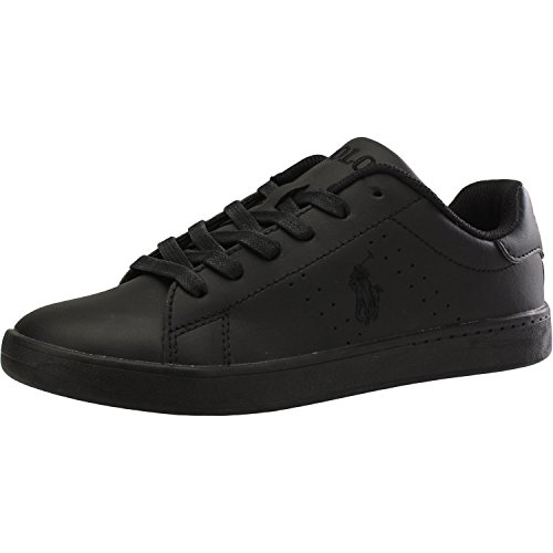 Polo Ralph Lauren Quilton Black Leather Youth Sneakers