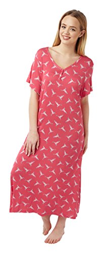 Ladies Long Plus Size Jersey Nightshirt in 5 Prints. Sizes 14-16 18-20 22-24 26-28 30-32