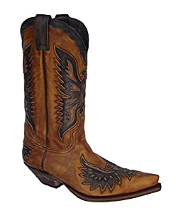 19809766c02e Sendra exceptional quality brown leather mens cowboy boots