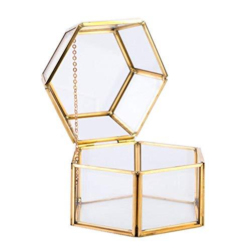 iBaste Gold Spiegeltablett gespiegelten verzierten dekorative Fach Kosmetik Organizer schminktisch aufbewahrung für Schmuck/Make-up Veranstalter -