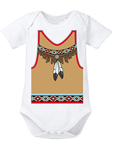 nisex Karneval Indianer Weiß Größe 86-92 (Baby Biker Kostüme)