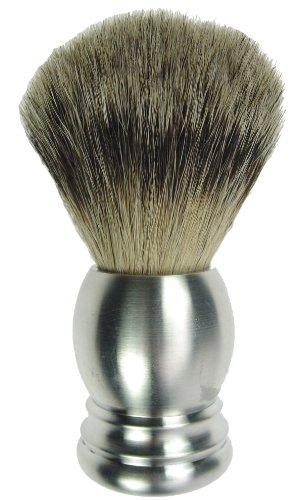 Fantasia - 84037 - Blaireau - Aluminium véritable - Blaireau véritable - Hauteur: 10 cm, ø 21.5 mm