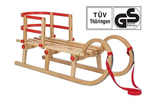 Impag Klappschlitten Hörnerschlitten TATRY | 115 cm lang | flach klappbar | stabiles Buchenholz |...