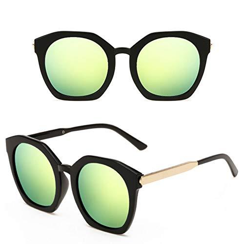 ZHANGTYJ Sonnenbrillen Beschichtetes Verspiegeltes Sonnenglas Runder Kreislinse Frau Sonnenbrille Square Punkte Frauen Brille Männer