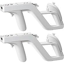 Vococal - 2 PIEZAS Pistola Gun Inalámbrico / RC Control Remoto / Mando a Distancia para Juegos de Tiros de Nintendo Wii Zapper