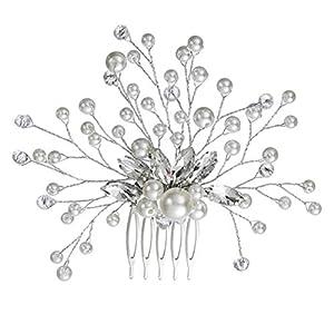 Damen Haarschmuck Haardekoration Haardeko Haarkamm Haarkämme Braut Hochzeit Schmuck Accessoires Kristall Kristallen Perlen Design Schmuck edel