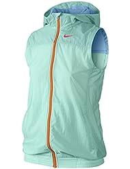 Nike niña Flight Weight Capucha Chaleco, todo el año, niña, color hellblau / neonrot, tamaño XL/158-170 cm