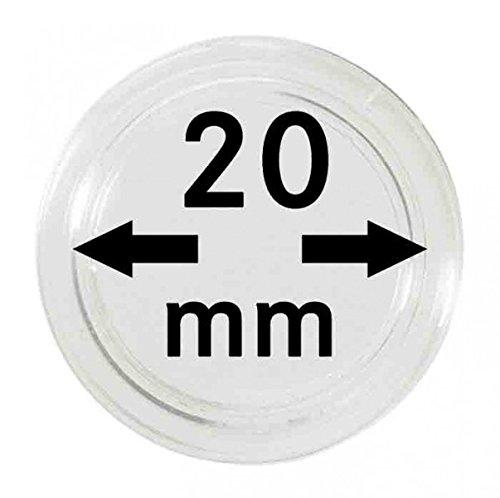 Lindner Münzkapseln für Münzen Ø 14 - 50 mm. Zur Wahl per 1, 5, 10, 100 Stück (20 mm - per 100)