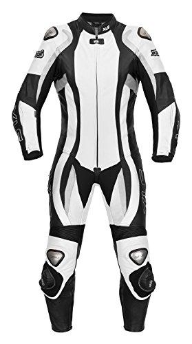*Lederkombi Daytona Lady / Damen Einteiler in schwarz-weiss von XLS (38)*