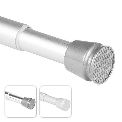 bomoe Duschvorhangstange Neptun - 140-250 cm - Aluminium - Teleskopstange als Duschstange ohne Bohren oder Kleiderstange - Stufenlos ausziehbar