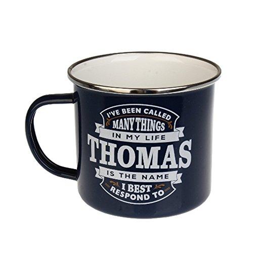 H & H Top Guy Tasse Thomas, große Camping-Kaffeetasse, Emaille, 400 ml, Mehrfarbig, leicht, Retro-inspiriert, für Herren Family Guy Bier