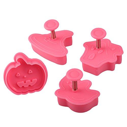 4pcs/set de Halloween Calabaza cortador de galletas para hornear Herramientas para hornear Cocina Mini DIY Sugarcraft