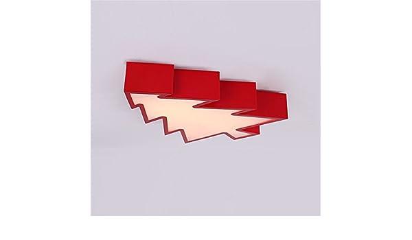 Lampadari Plafoniere Rosse : Chlight 45cm camera dei bambini plafoniere rosse acrilico creativo