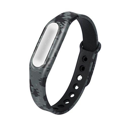Xshuai Hochwertige Durable Camouflage Pattern Strap WristBand Armband Ersatz für Xiaomi MI Band 1S (25,50 x 1,85 x 0,90 cm) (C)
