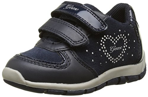 Geox Baby Mädchen B Shaax A Sneaker, Blau (Navy), 23 (Baby Clearance)