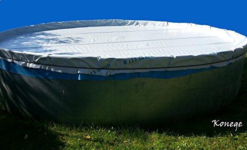 Poolplane, Poolfolie, Winterabdeckung für Pool bis max. Ø5,60m, inkl. Gummiseil