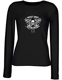lepni.me Camisetas de Manga Larga para Mujer Alma del Oeste Sigue luchando,