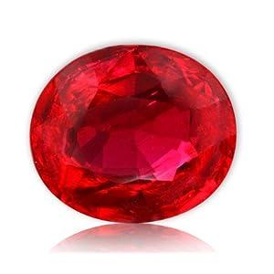 S Kumar Gems & Jewels Natural Manik/Ruby 7.25 Ratti Certified Loose Gemstone Rashi Ratna