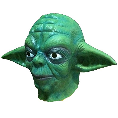 Karneval Masken Halloween Party Latex Jaffaite Kunststoff Maskerade Masken Lustige Scary Haunted Haus Best Gesichtsmaske Kopfbedeckung Dekorationen Moive Film Star Wars Yoda (Cool Halloween Paare Kostüm Ideen)