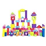 Lllcxdc Lllcxdc 60 Stück nicht recycelte Qualität Schaum Wonder Blocks for Kinder, weich, Qualität, wasserdicht