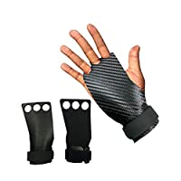 jianghang Beautiful A Pair of Leather Non-slip Wear-resistant Wristband Gloves, Ripstop and Blisters for Hand Protection, Suitable for Fitness, Weightlifting, Etc, S, M,(XL)