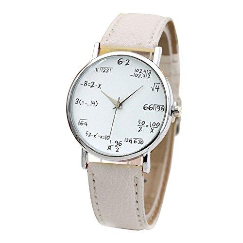 MingXiao Kairos de Lujo de los Hombres Reloj de Pulsera fórmula matemática analógico de Cuarzo PU Reloj de Pulsera de Cuero para Dama Regalo 9 Color