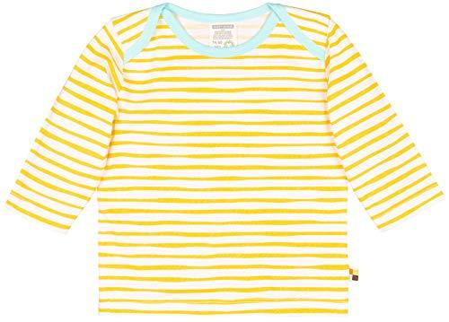 loud + proud Unisex Baby Shirt Ringel, aus Bio Baumwolle, GOTS zertiziziert, Gelb (Honey Hon), 80 (Herstellergröße: 74/80) -