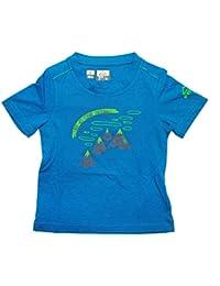 McKinley Kinder Wander Freizeit Funktions T-camiseta kupuna UV-protección con Royal blue royal / green Talla:6 años (116 cm)
