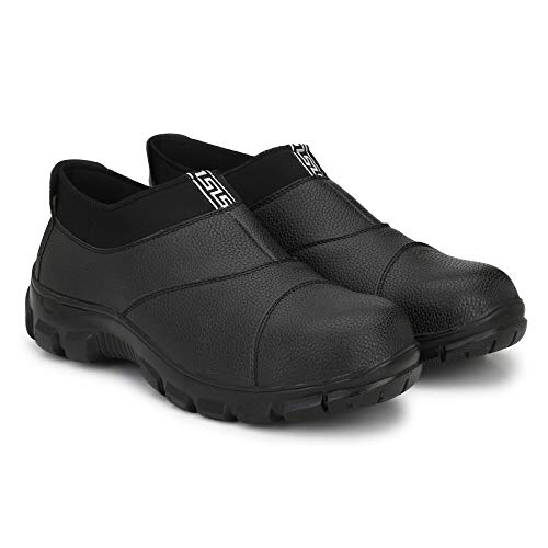 Buy Udenchi UD8406 Industrial Safety Shoes With Steel Toe Slip On Without Lace | Size – 6 UK, Black online in India at discounted price