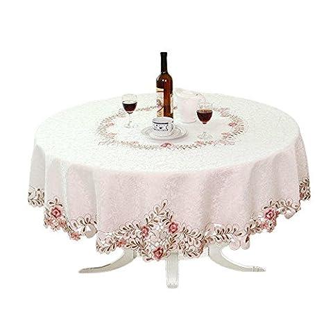 Table Ronde Legere - Shinemoon Home Textiles brodée creux Cut nappes,