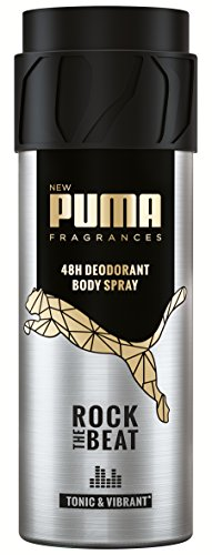 Puma Deodorant Body Spray ohne Aluminiumsalze: Rock The Beat, 6er Pack (6 x 150 ml)