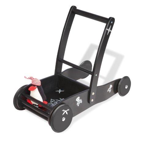 Preisvergleich Produktbild Pinolino 269411 - Lauflernwagen Pirat James, schwarz