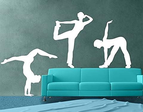 Wandtattoo No.821 Tänzer Set Tanzen Hobby Musik Ausdruck Fitness, Farbe:Creme;Größe:90cm x 142cm