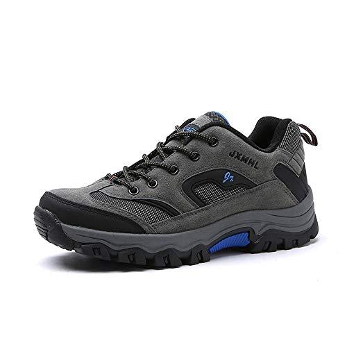 Scarpe da Trekking da Uomo Outdoor Low Top Professionale Antiscivolo Traspiranti da Esterno per Sneaker Grigio Cachi Verde Militare 39-46 Grigio 41
