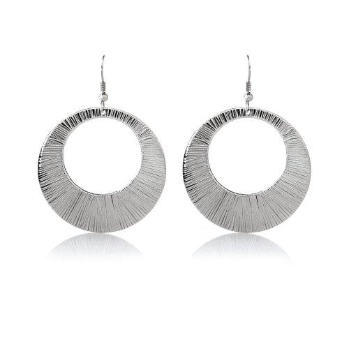 Moderne Edelstahl Damen Ohrringe Silber Look HSE 2520.45mm