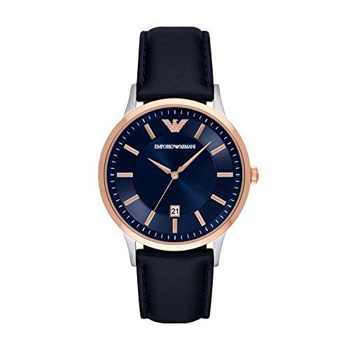 Emporio Armani Reloj para Hombre de Cuarzo con Correa en Cuero AR2506