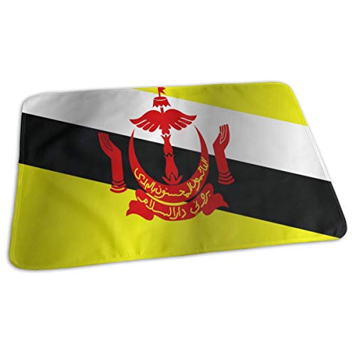 Flag Of Brunei Baby Portable Reusable Changing Pad Mat 19.7x27.5 inch -