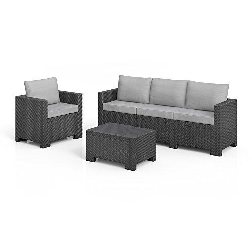 BICA Colorado Lounge Set Poly Rattan Gartenmöbel Rattanoptik Sitzgruppe Auflagen