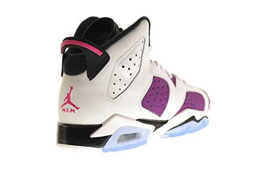 Nike M盲dchen Air Jordan 6 Retro Gg Laufschuhe white, vivid pink-brght grp-blk