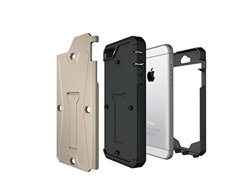 iPhone SE cas,lantier [heavy duty] réservoir 3 en 1 combo étui de protection complet du corps hybride avec béquille et construit en protection d'écran pour Apple iPhone SE or Tank Gold