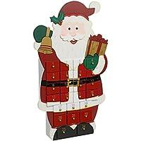 Déco Noël - Calendrier de l'avent durable en bois – Forme Père Noël