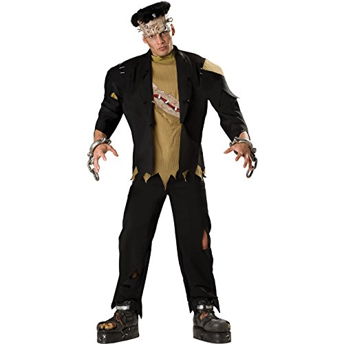 Deluxe Herren Frankenstein Horror Monster Halloween Kostüm (Munsters Halloween-kostüme)