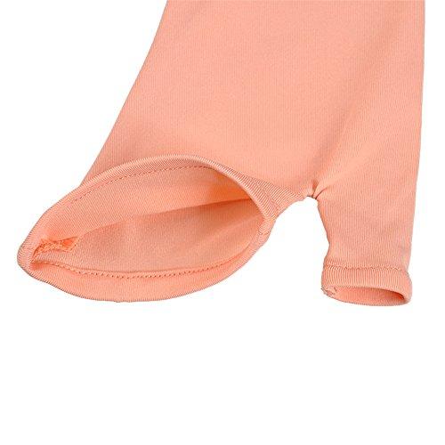 Kenmont Manches de Bras avec Gants de Protection Anti UV Solaire Long Mitaines Mitten, Gants Femme, 1 Paire soleil orange