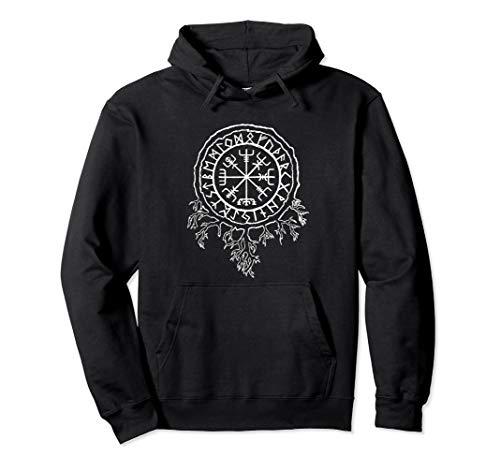 Nordische Mythologie Wikinger Runen Schutz Symbol Pullover Hoodie