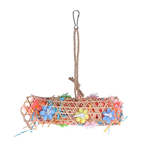 wifun Parrot Toys Bambus Strick Papier Ständer Swing Birds Bite Kauen zum Aufhängen Käfig