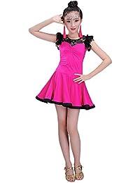 XFentech Moda Ragazze Latin Waltz Tango Danza Senza Maniche Principessa Backless Abiti da Ballo Stage Contest Costume da Ballo Abiti