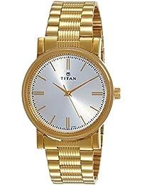 Titan Analog Silver Dial Men's Watch-NJ1712YM01