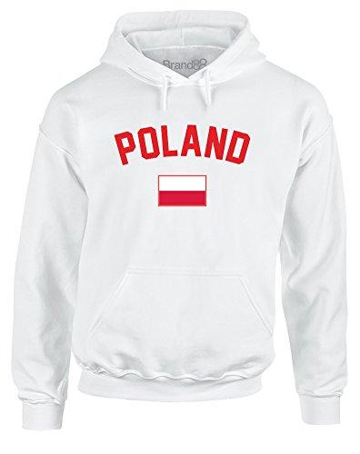 Poland Fan, Adults Gedruckt Hoody - Pullover - Weiß L = 106-111 cm