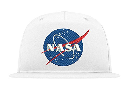 TRVPPY 5 Panel Kinder Junior Cap Modell NASA, Weiß, b10b - Hat Tisa