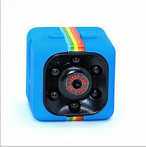 Mini Kamera,SENSU 360 Grad FOV Nachtsicht 1080P HD DVR Camcorder Mini Auto Versteckte DV DVR Kamera Spy Dash Cam IR C Unterstützung TF-Karte (Blau)